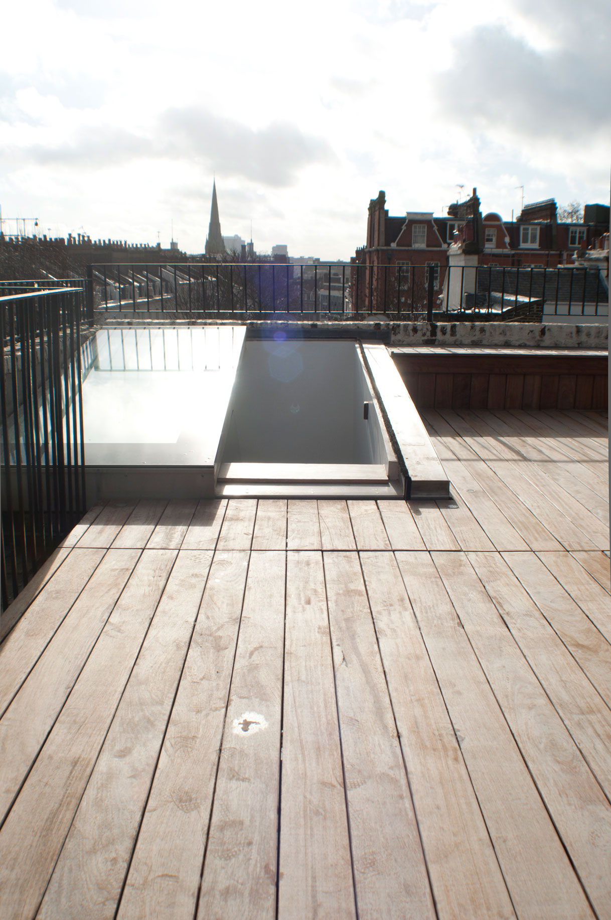 Stairs And An Opening Rooflight Designed To Bring Light To The Interior And  Provide Access To A New Roof Terrace. Planning Restrictions Meant That The  ...